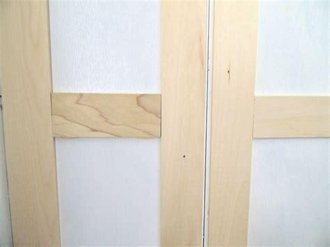 Update Closet Doors Remodelaholic Bi Fold To Paneled Door Closet Makeover