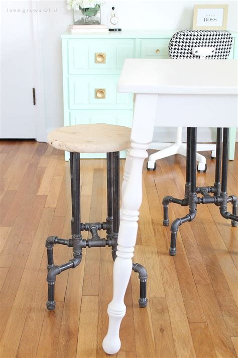 diy industrial pipe stools industrial home and
