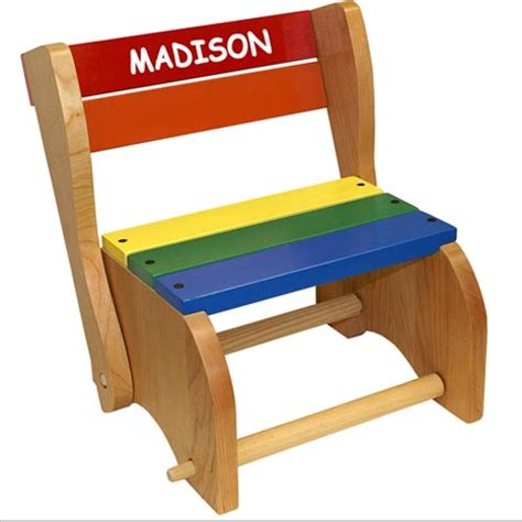 Personalized Step Stool Chair personalized classic step stool chairs for and