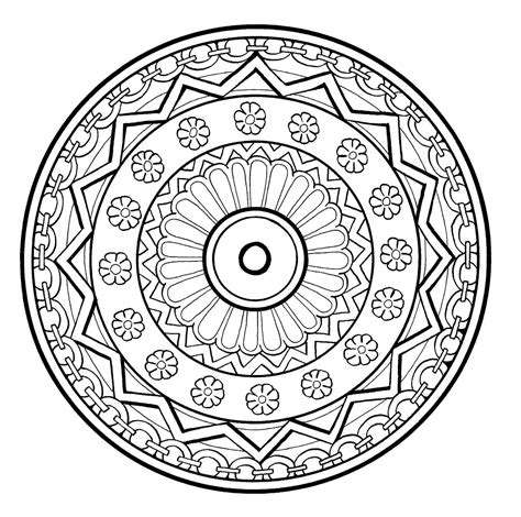stress relief coloring pages easy mandalas et coloriages abstraits imprimables pour soulager
