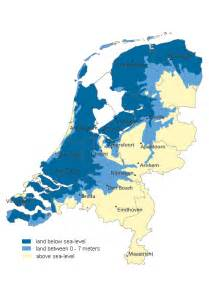 netherlands map below sea level expedition earth the delta works