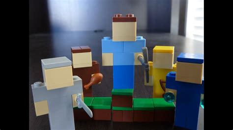 build lego minecraft characters tutorial youtube