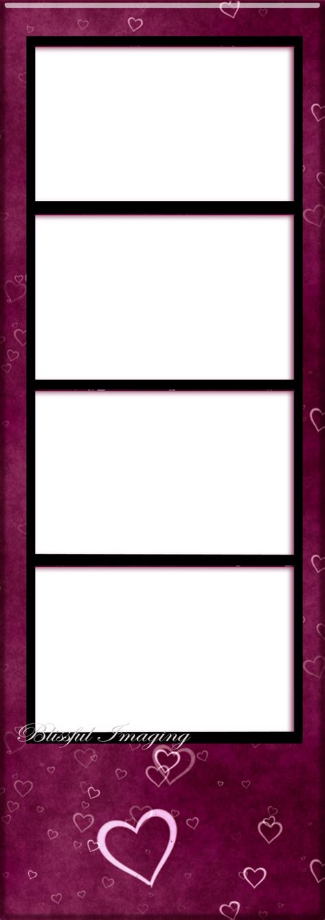 photo booth frame cards template photo booth template png by blissfullimaging on