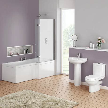 bathroom suites with shower baths ivo modern shower bath suite at plumbing uk