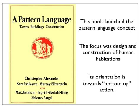 pattern language book pattern languages an approach to holistic knowledge