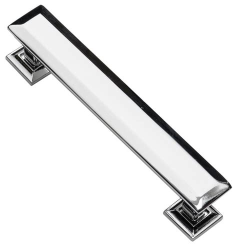 kitchen cabinet drawer hardware southern hills cabinet pull polished chrome 4 3 4 inch