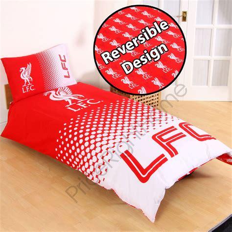 liverpool bedroom stuff liverpool fc fade red single duvet cover set official football bedding ebay