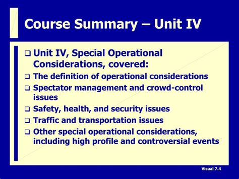 Unit Course by Ppt Course Summary Powerpoint Presentation Id 5756093