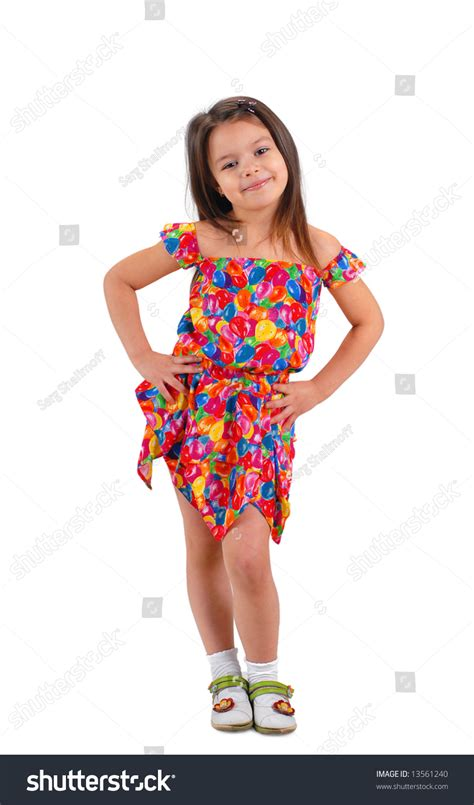 young girl short dress stock photos images pictures little cute brown haired baby girl posing in fancy colored