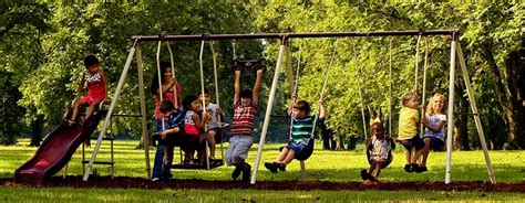 largest swing set new flexible flyer outdoor swing set swingset backyard