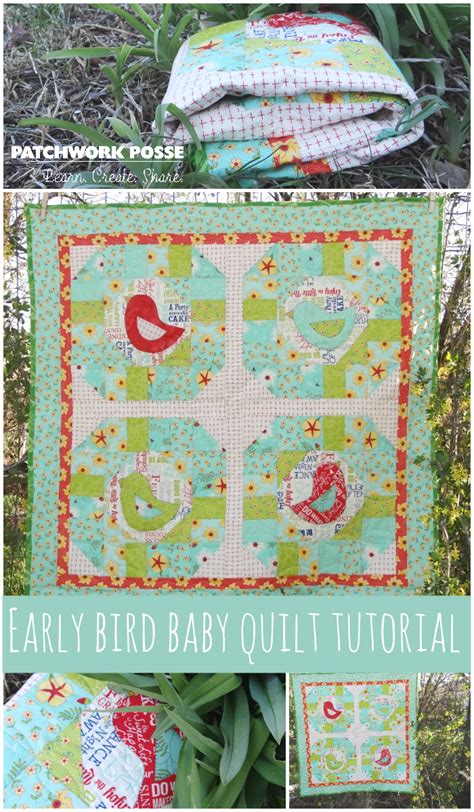 Patchwork Baby Quilt Tutorial - early bird baby quilt tutorial