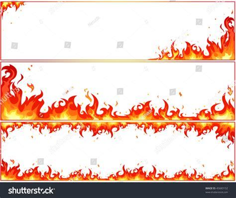 banner shutterstock set fire banners on white background stock vector 45683152