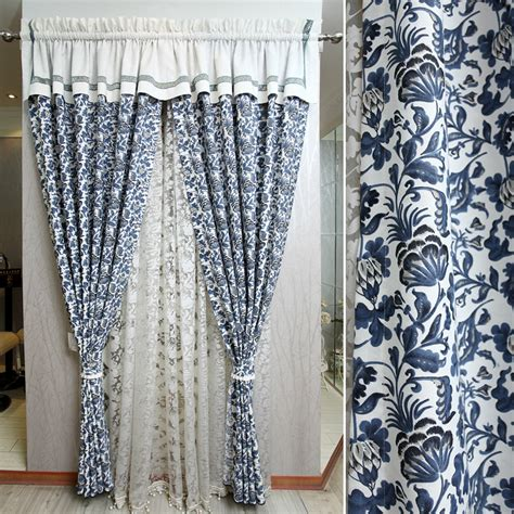 blue and white print curtains aliexpress com buy blue and white porcelain curtain