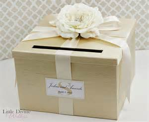 card boxes for weddings wedding card box chagne gold ivory money holder