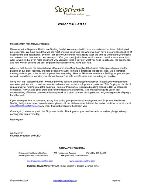 fresh sle welcome letter how to format a cover letter