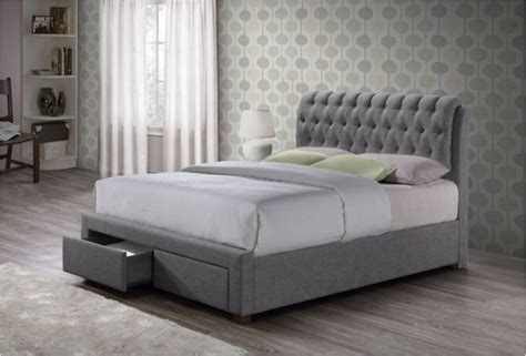 Grey Fabric Bed With Mattress Valentino Fabric Bed Grey Fabric Beds