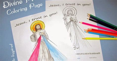 divine mercy coloring page catholic inspired