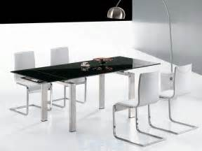 Glass Table For Dining Room Modern Glass Dining Table Decobizz