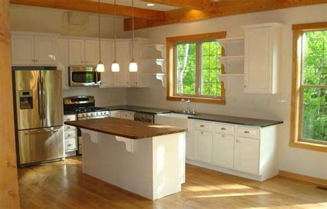 White Cupboards With Wood Trim - white cabinets oak trim for the home wood kitchen