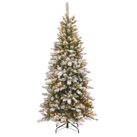colorado pine or aster pine artificial christmas tree national tree company 7 5 ft snowy mountain pine slim pine artificial tree with clear