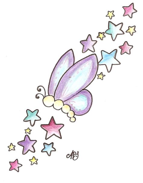 butterfly with stars tattoo designs butterfly and zentangle