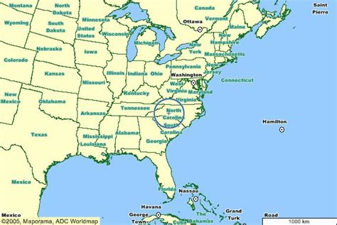 usa carolina map carolina place in the states u s a