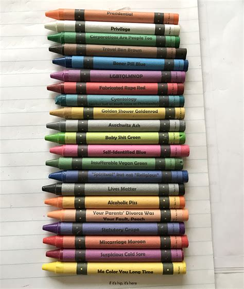 color crayon politically incorrect offensive crayons color names