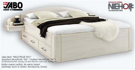 jabo bett jabo bett multi plus n51 in kiefer massiv astfrei weiss