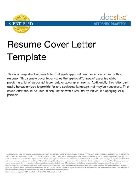 Cover Letter For Email Resume by Email Resume Cover Letter Template Resume Builder
