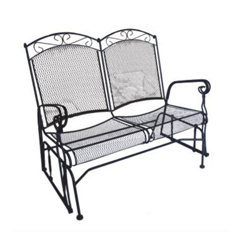 home depot paint glider shop d c america charleston black porch glider at lowes