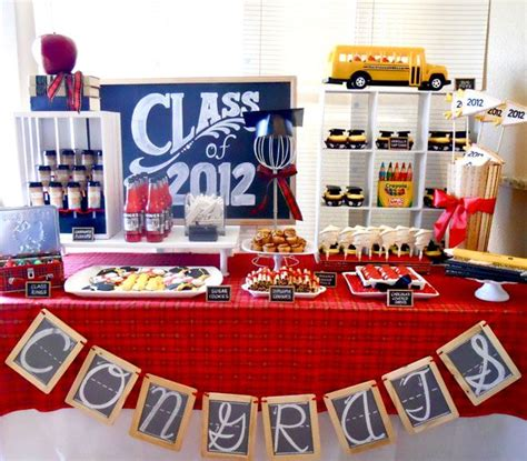 party themes high school graduation dessert table for graduation party google search