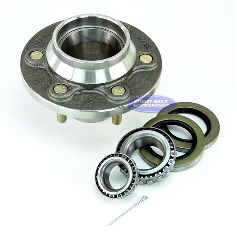 boat trailer hubs and bearings stainless steel 6 lug boat trailer hub with bearings for