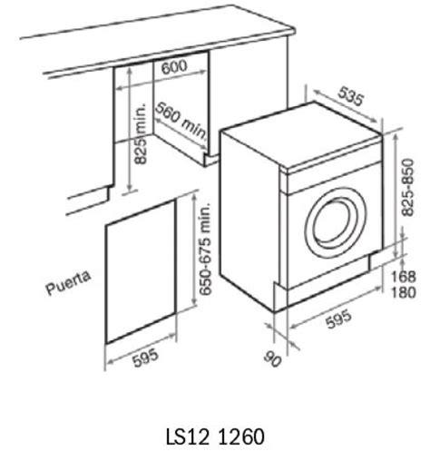 washer dryer dimensions adewan ls12 1260 washing machine dimensions