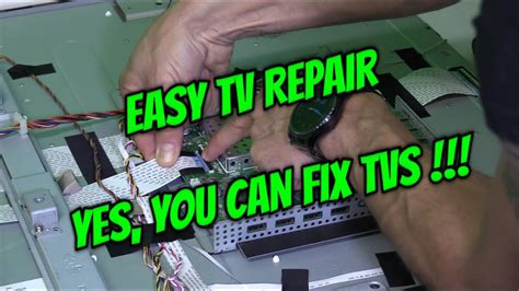 My Samsung Tv Has No Sound Led Lcd Tv Repair Doesn T Turn On No Picture Screen Vizio Xvt3d47 Fix