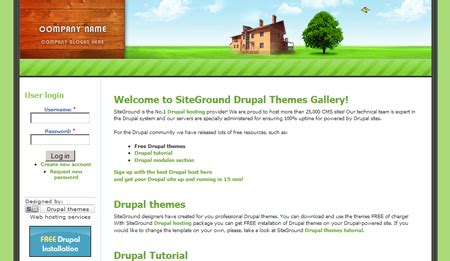 drupal theme header 20 great 2 column drupal themes