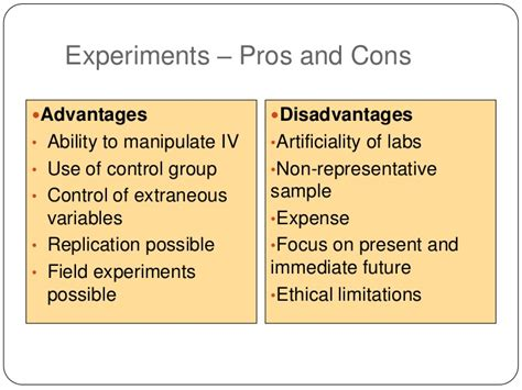 Pros And Cons Of Mba by Mba724 S6 W1 Experimental Design