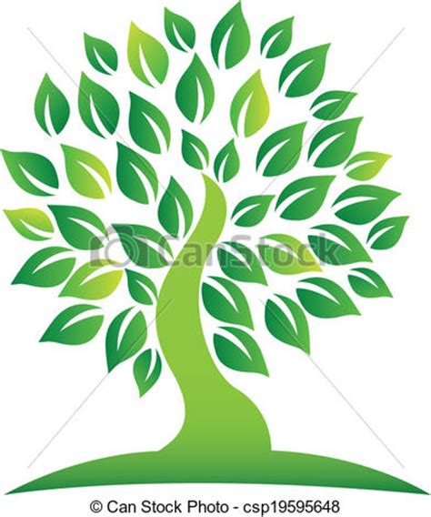 Vector Of Green Tree Logo Eps Vector Search Clip Art Illustration Drawings And Graphics Green Tree Logos Vector Graphic 01 Vector Logo Free