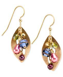 silver forest earrings silver forest earrings gold tone multi color cascading bead drop earrings jewelry watches