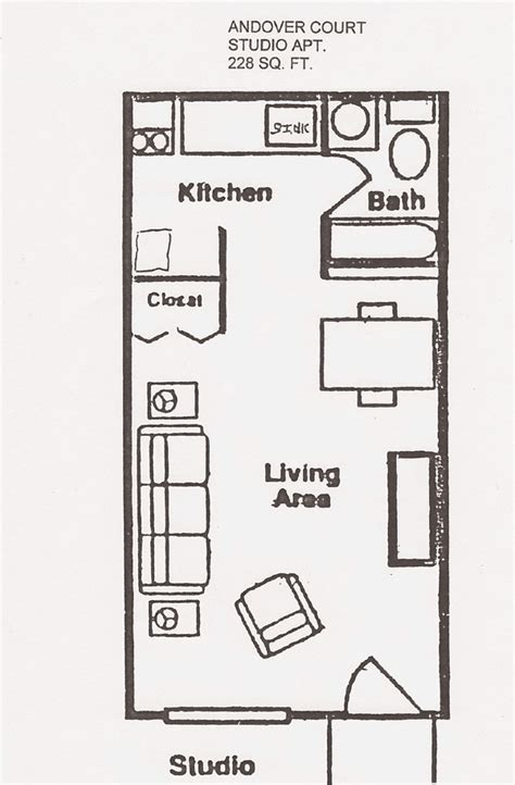 efficiency apartment floor plan andover court floor plans shawnee properties
