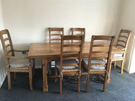barker  stone house dining room table   chairs