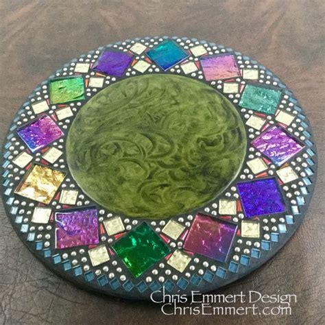 lazy susan home decor green mosaic mirror round mosaic mirror home decor greens and gold chris emmert mosaic design