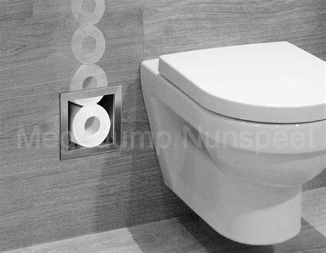 inbouw wc inbouwen rvs inbouw toiletrolhouder voor 6 closetrollen megadump