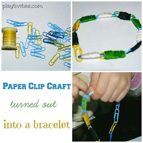 Paper Clip Craft - paper clip craft turns out into a bracelet playtivities