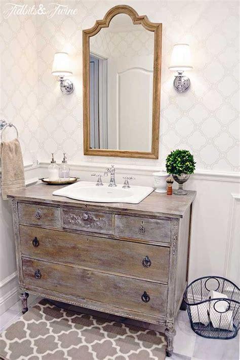 guest bathroom makeover reveal vintage dressers guest