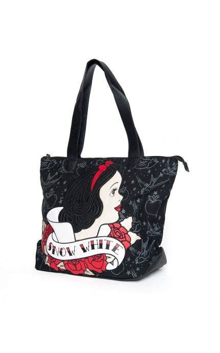 Purse Freebie Herman Snow White Tote by Pinup Clothing Snow White Tote Bag In Black