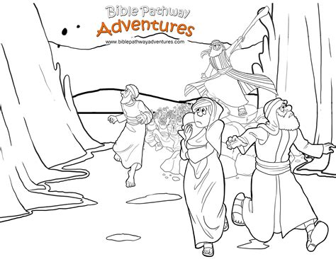printable coloring pages exodus free printable bible coloring page exodus red sea crossing