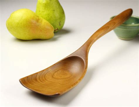 Handmade Wooden Things - handmade wooden scoop spoon for serving things like home fries