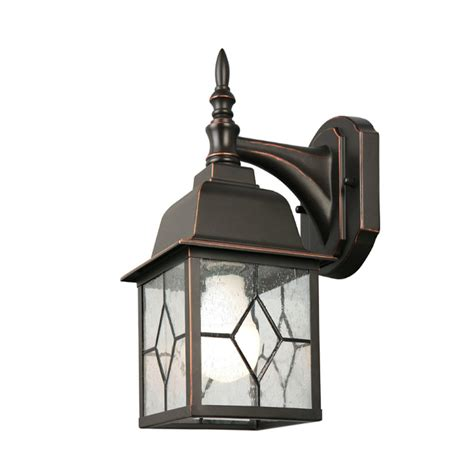 shop portfolio 105 in h black outdoor wall light at