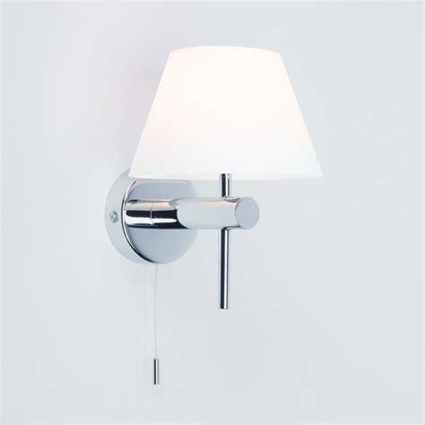 roma switched 0434 polished chrome bathroom lighting wall