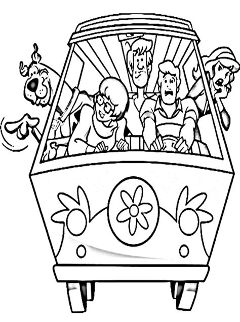 kids page printable scooby doo coloring pages